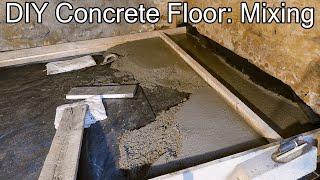 How to Build a Concrete Floor - Mixing Concrete