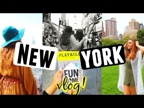 NEW YORK CITY TRAVEL DIARY 2016! Broadway Stage door, 5th Avenue + Top of the Rock!