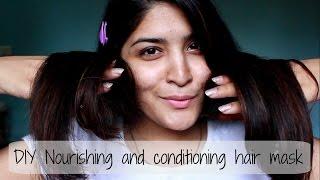 Conditioning and Nourishing Hair Mask   DIY Hair Care   Diwalog Day 6