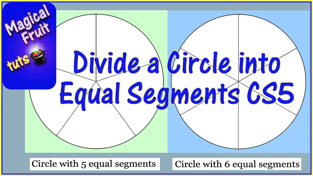 Divide a circle into equal segments in photoshop cs5 youtube nvjuhfo Images