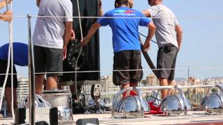 Fantastic Footage of the Rig Un-step of Vitters Shipyard Built S/Y Marie