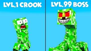 Monster School : EPIC LVL 1 CROOK VS LVL 99 BOSS CHALLENGE - Minecraft Animation