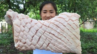 Crispy Pork Belly with Bread Recipe - Crispy Pork Belly Recipe cooking by countryside life TV.