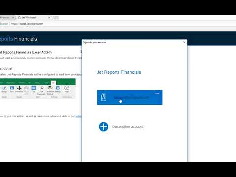 Install Step 2 - How Users Install the Excel Add-In - Jet Reports Financials