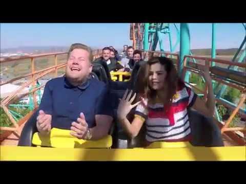 Selena Gomez Funny Roller Coaster Moment With James Corden