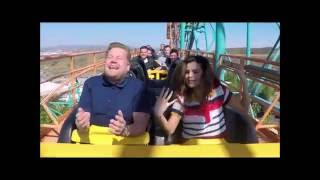 Selena Gomez Funny Roller Coaster Moment With James Corden