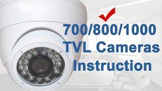 dome camera instruction ev cdm168 ev cdm268 from evertech usa