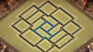 clash of clans best town hall 10 th10 war base new 2 air sweepers 2015 very strong