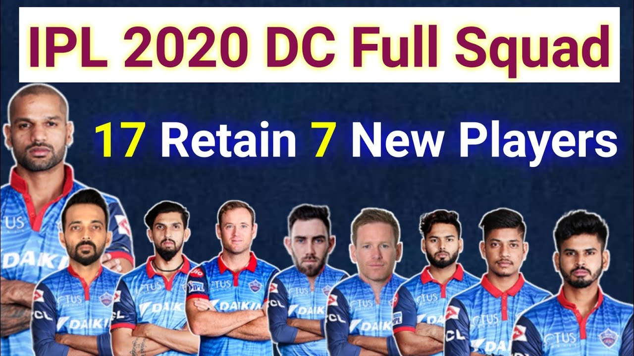 Ipl 2020 Delhi Capital Full Squad Retain Release And Buy Players List Youtube