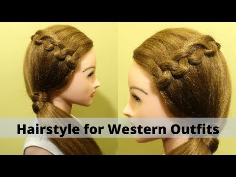 beautiful-hairstyle-for-western-dresses-|-hairstyle-for-college-girls-|-kgs-hairstyles