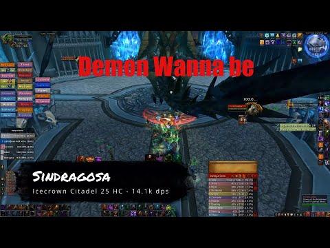 World Of Warcraft   ICC 25 HC - FULL RUN (Demonology Warlock POV)