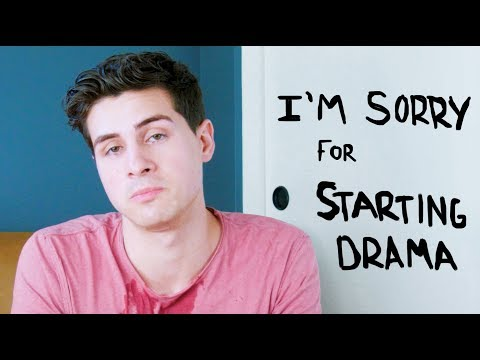 My apology for starting drama