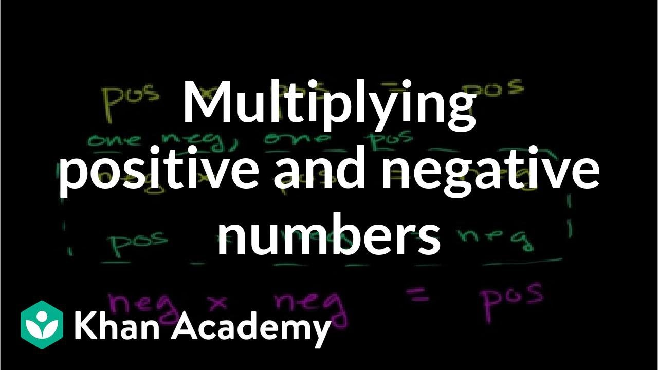 small resolution of Multiplying positive \u0026 negative numbers (video)   Khan Academy