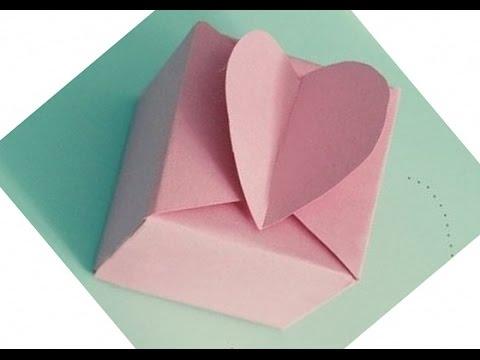 Подарок своими руками.Оригами коробочка с сюрпризом ...