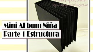 Mini Album para Niña Parte 1: Estructura | Tutorial Scrapbook | Luisa PaperCrafts