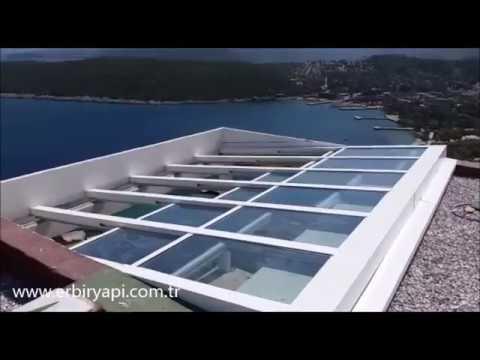 erbr yapi terrasse toiture coulissante toit en verre toit ouvrant en verre motoris