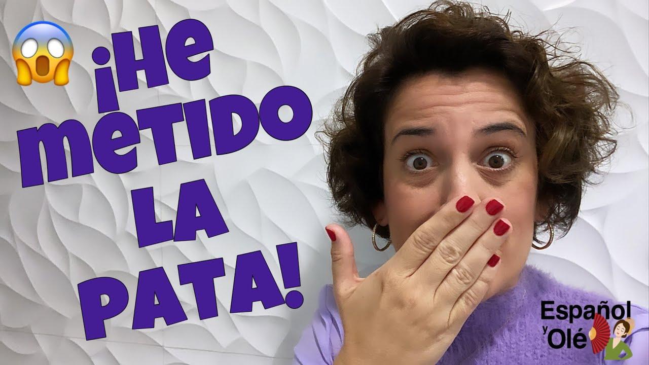 😱 ¡TIERRA TRÁGAME! 😬 ¡He METIDO la PATA! 😳 Expresiones coloquiales en español. ✔Frases hechas.