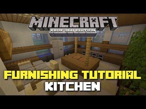 Minecraft xbox 360 house furnishing tutorial episode 2 for Minecraft kitchen ideas xbox