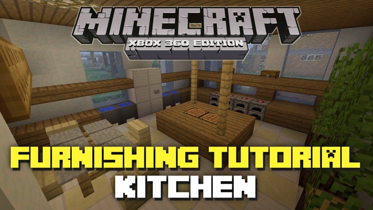 Minecraft Kitchen Xbox Minecraft Xbox 360 House Furnishing Tutorial Episode 2 Kitchen
