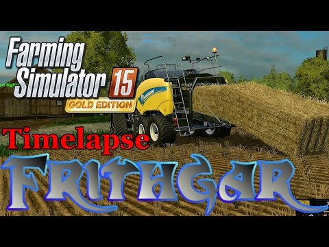 FS15 Timelapse #38: Baling And Stacking Hundreds Of Bales! - YouTube