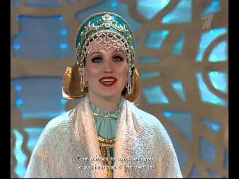 Russian Folk Songs - Russian TV - Ludmila Zykina ( Subtitles )