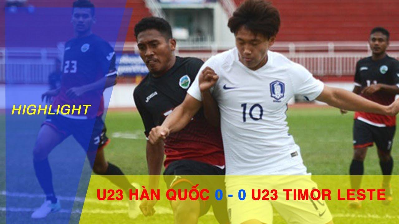 Video: U23 Đông Timo vs U23 Hàn Quốc