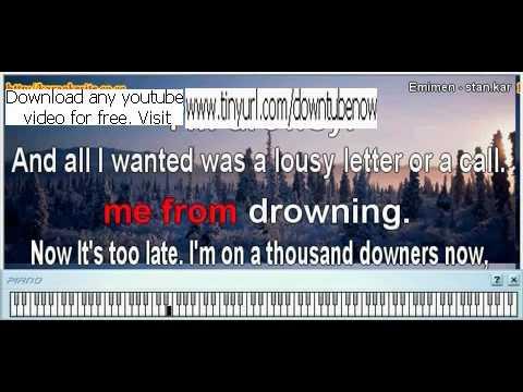 Eminem - Stan Karaoke with download