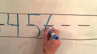 Writing numbers 1 -10