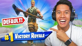 DEFAULT SKIN DOES SO I WIN! -FORTNITE ENGLISH