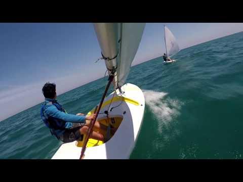 Sunfish Racing On Lake Michigan At NSYC