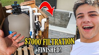 My BACKYARD FISH POND FILTRATION is FINISHED!! (crazy)
