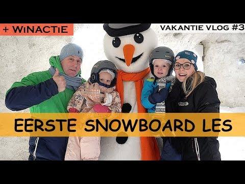 SNOWWORLD KiNDER-SNOWBOARD LES | WiNACTiE! | Bellinga Family Vlog #804
