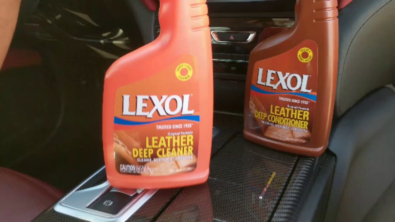 how to clean leather upholstery youtube
