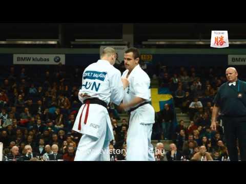 Zsolt Balogh vs Daniel Trifu - Karate World Cup Vilnius 2013