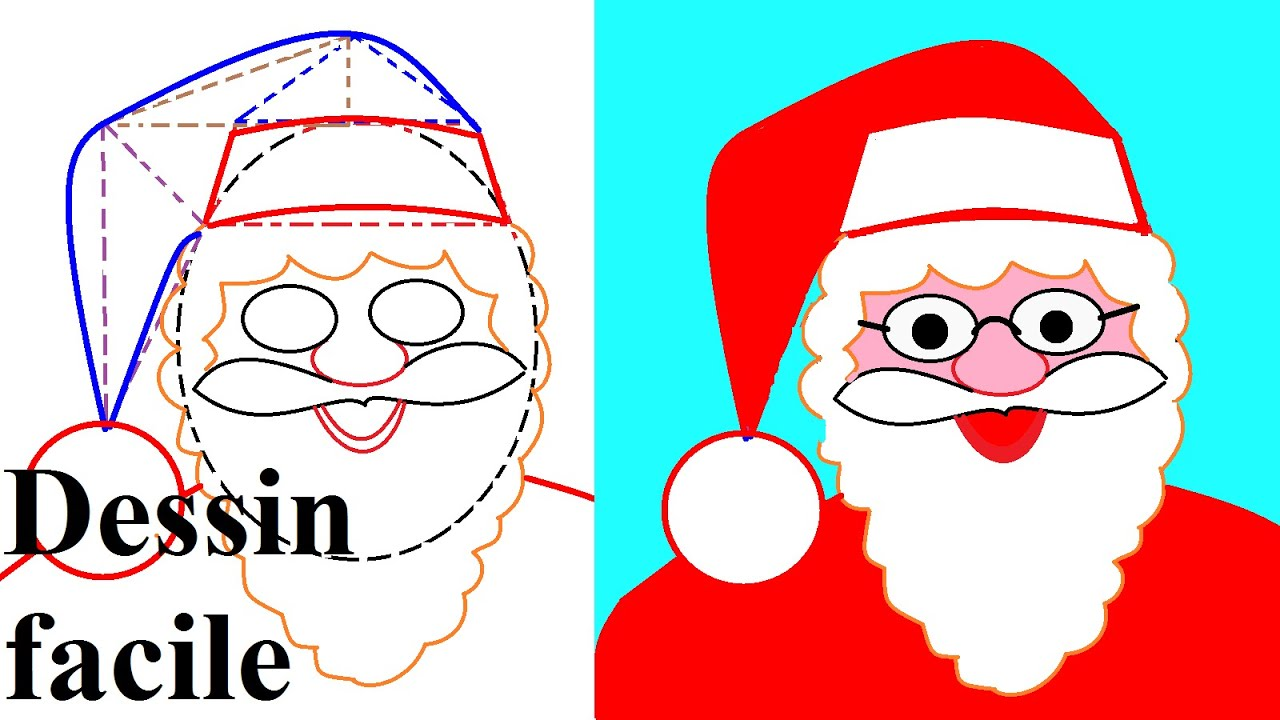 Apprendre dessiner no l dessin du p re no l youtube - Pere noel facile a dessiner ...