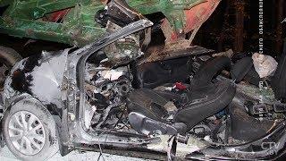 Легковушку разорвало после столкновения с трактором под Чериковым