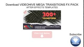 Videohive Mega Transitions Fx Pack After Effects Templates