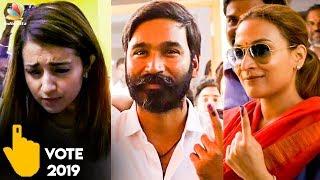 LIVE : Dhanush & Trisha Casted Their Votes | Aishwarya Rajinikanth | Lok Sabha Elections 2019