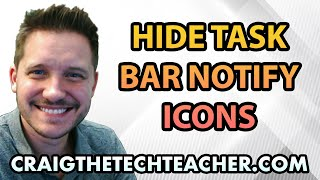 How To Hide Windows 7 Taskbar Notifications and Icons