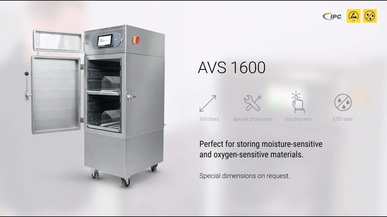 Vacuum nitrogen cabinet AVS 1600 – Protection for oxygen-sensitive products