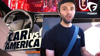 The Guys Take a Ride to the Future in A Tesla | Car vs America