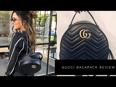 c22a3e711 GUCCI MARMONT QUILTED LEATHER BACKPACK REVIEW | Lina Noory - YouTube