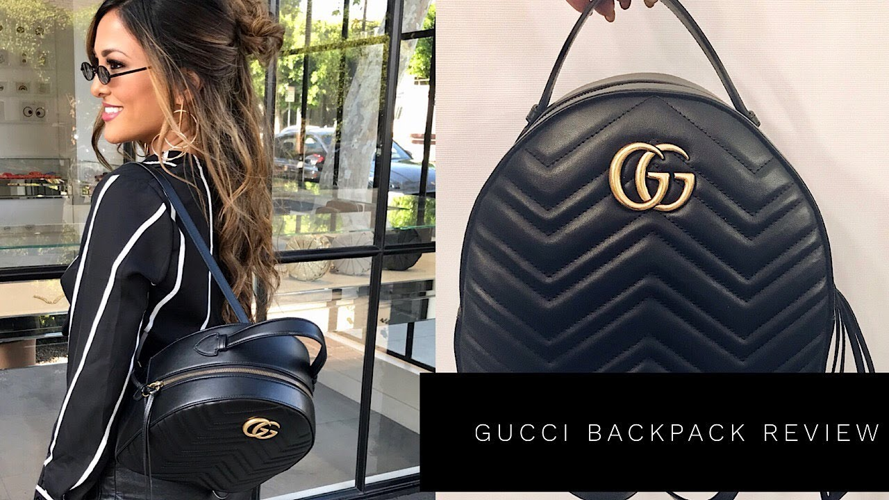 9aad0b518eb4 GUCCI MARMONT QUILTED LEATHER BACKPACK REVIEW | Lina Noory - YouTube