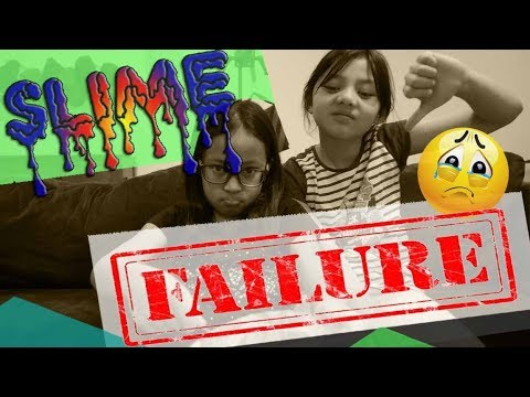 How to make slime? Slime Failure!! We NEED HELP!!!😭