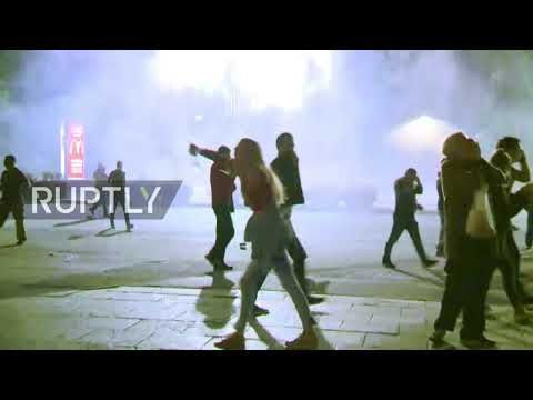 "Serbia: Protesters outraged by Belgrade""s new coronavirus lockdown try to storm parliament"