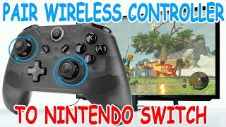 How to Pair Wireless Controller to your Nintendo Switch with Dock