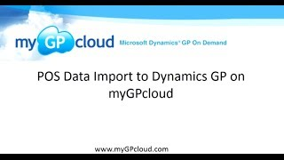 POS Data Import to Dynamics GP on myGPcloud