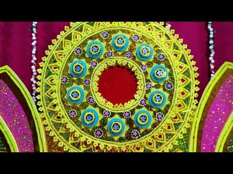 Ganesh decoration ideas at home / how to make a Ganpati makhar for Ganesh puja