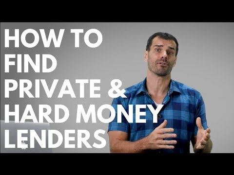 How To Find Private, Hard Money Lenders - Real Estate Investing