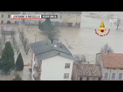 Maltempo in Emilia, esonda il fiume Enza: mille evacuati